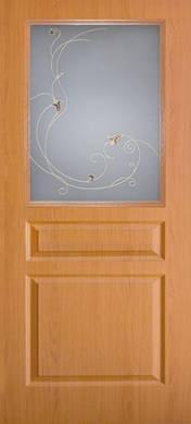 Дверное полотно ПВХ Барселона с контурным рисунком