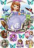 Вафельная картинка для тортов Принцесса София 61