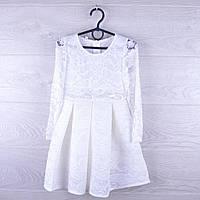 """Детское нарядное платье """"Белоснежка"""".  3-5 лет. Белое. Оптом."""