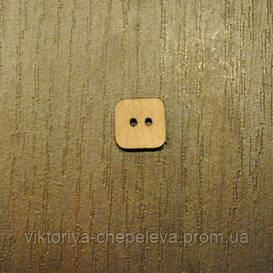 Пуговицы деревянные квадратные