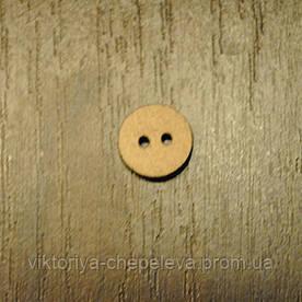 Пуговица деревянная круглая