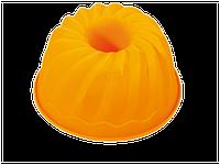 Форма силиконовая для выпечки кекс большой с втулкой, фото 1