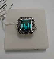 Серебряное кольцо с зеленым кварцем Нано