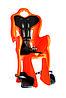 Сиденье задн. Bellelli B1 Сlamp (на багажник) до 22кг, оранжевое с чёрной подкладкой