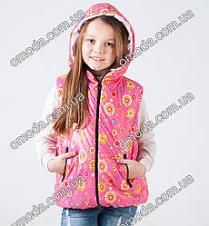 Розовая детская жилетка