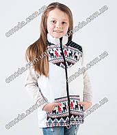 Детская жилетка белого цвета с принтом
