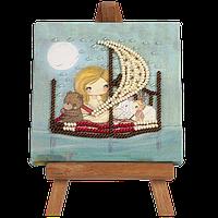"""Набор-мини для вышивания бисером с мольбертом """"Мечты о море-2"""""""
