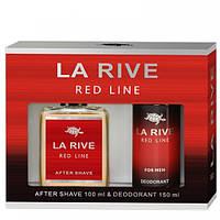 Мужской подарочный набор (Лосьон после бритья/дезодорант) LA RIVE RED LINE 235128
