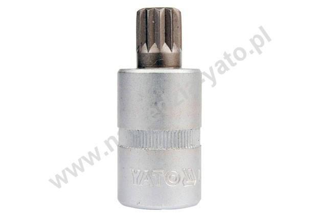 """YATO Головка торцева з квадр. 1/2""""  з вставкою SPLINE М6,  L= 50 мм, Nm=60,8, фото 2"""