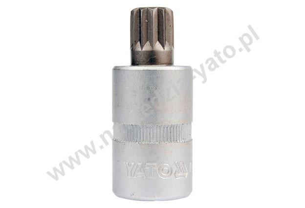 """YATO Головка торцева з квадр. 1/2""""  з вставкою SPLINE М6,  L= 50 мм, Nm=60,8"""