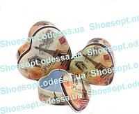 Подарочные коробки жестяные Париж набор 3шт 12-11,5-5 см, фото 1