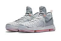Баскетбольные кроссовки Найк Air Zoom KD 9 Grey Реплика, фото 1