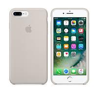 Силиконовый чехол Apple / iPhone 7 Plus / iPhone 8 Plus Silicone case Stone (MMQW2) Светло-серый, фото 1