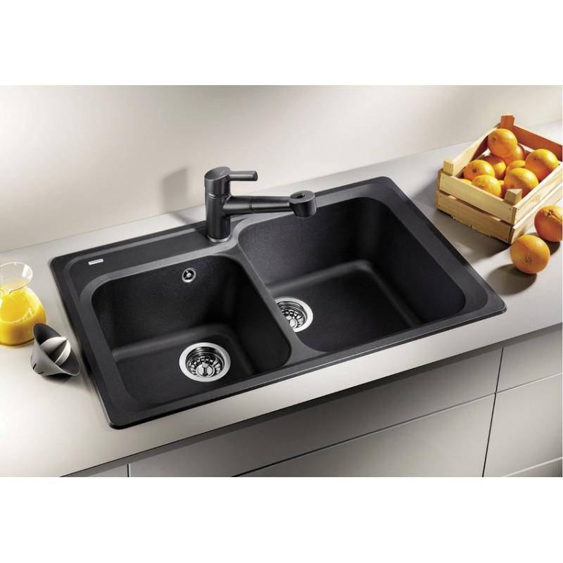 Гранитная кухонная мойка Blanco Classic 8 антрацит