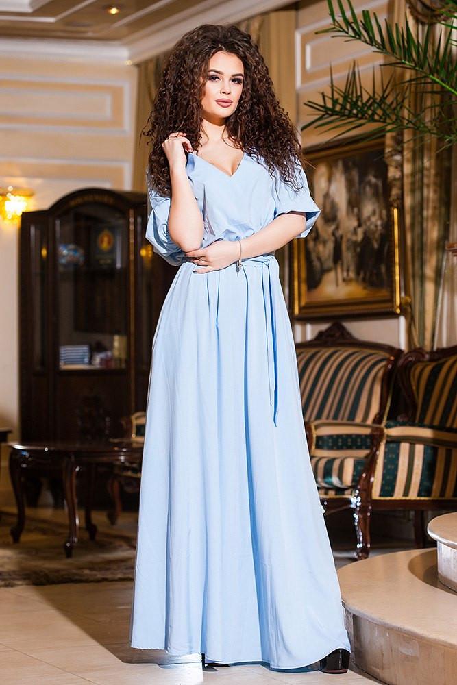 10cb0ae87e2f409 Купить Платье в пол трикотаж оптом и в розницу от интернет-магазина ...