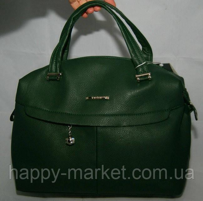 Сумка женская Саквояж  Valetta studio Зеленая 22121508-1