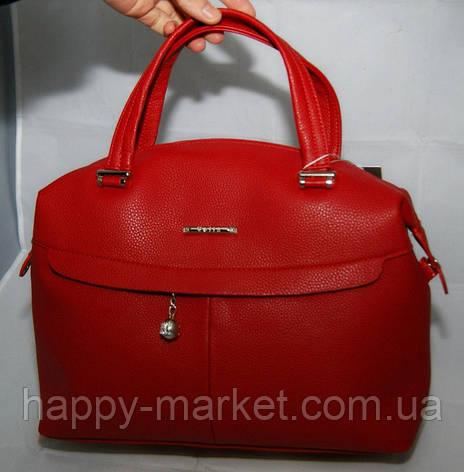 Сумка женская Саквояж  Valetta studio Красная  22121508-2, фото 2