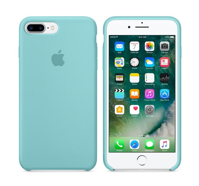 iphone 8 plus silicone case blue