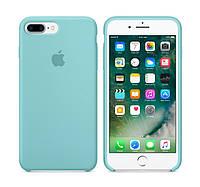 Силиконовый чехол Apple / Original iPhone 7 Plus / 8 Plus Silicone case Sea blue (MMQY2) Голубой, фото 1