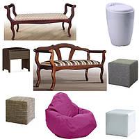 Банкетки, пуфики, бескаркасная мебель