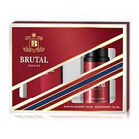 Мужской подарочный набор (Лосьон после бритья/дезодорант) LA RIVE BRUTAL CLASSIC 061885