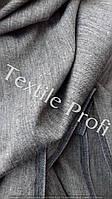 Льняная костюмная ткань с меланжевым эффектом (с вложением хлопка)