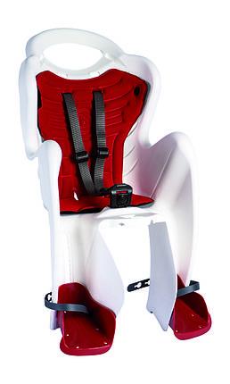 Сиденье задн. Bellelli Mr Fox Relax B-fix до 22кг, белое с красной подкладкой, фото 2