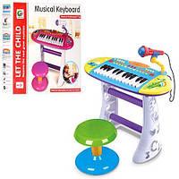 Детский синтезатор с микрофоном и стульчиком (BB383BD)