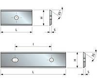 Твердосплавная пластина 60×12×1.5 мм