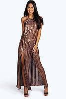 Новое платье в пол с открытой спинкой Boohoo