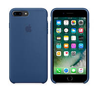 Силиконовый чехол Apple / Original iPhone 7 Plus / 8 Plus Silicone case Ocean blue (MMQX2) Синий, фото 1