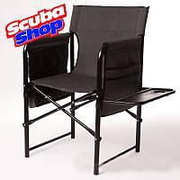 """Кресло раскладное """"Режиссер Люкс"""" с полочкой (двойная ткань), фото 1"""