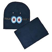 Комплект шапка и снуд детский Миньон