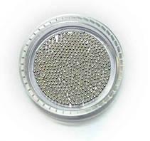 Металлические бульонки серебро