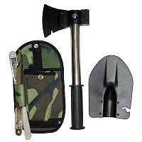 Походный туристический набор 4 в 1 (лопата, топор, пила, нож) в чехле