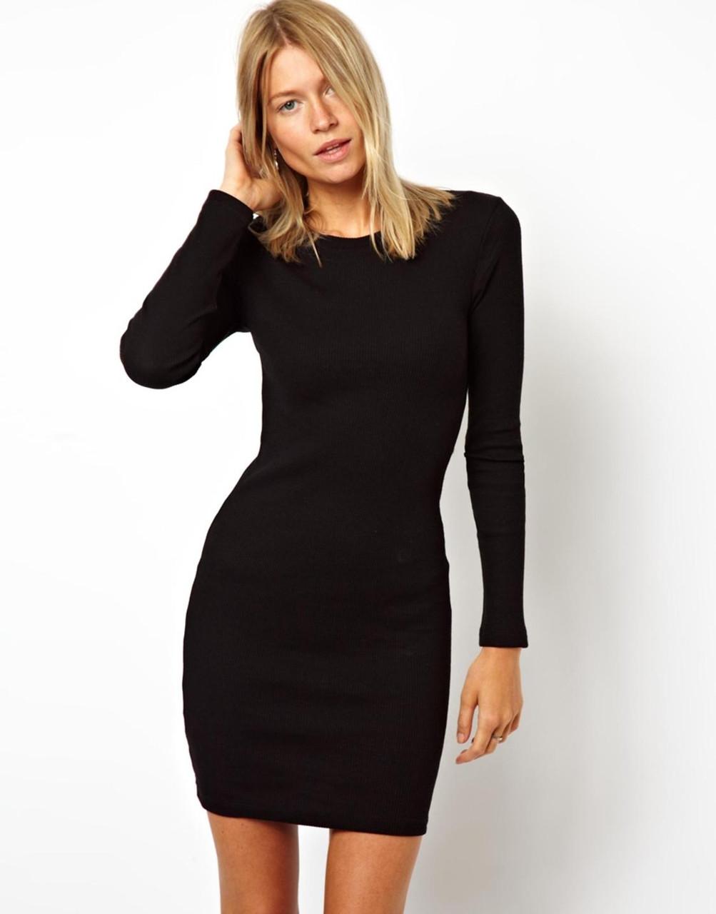 Новое черное облегающее платье Boohoo