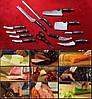 Набор ножей Miracle Blade World Class (Мирэкл Блэйд) 12 шт плюс кухонные ножницы, фото 2