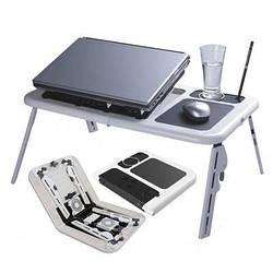 Раскладной столик для ноутбука с охлаждением 2 USB кулерами E-Table LD09
