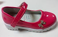 Детские розовые лаковые туфли 25, 26, 27, 28р