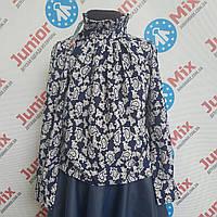 Польская детская блузка на девочку воротник стойка UMBO