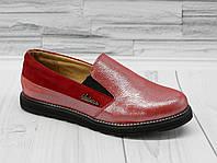 Туфли - мокасины для девочки. натуральная кожа 0351