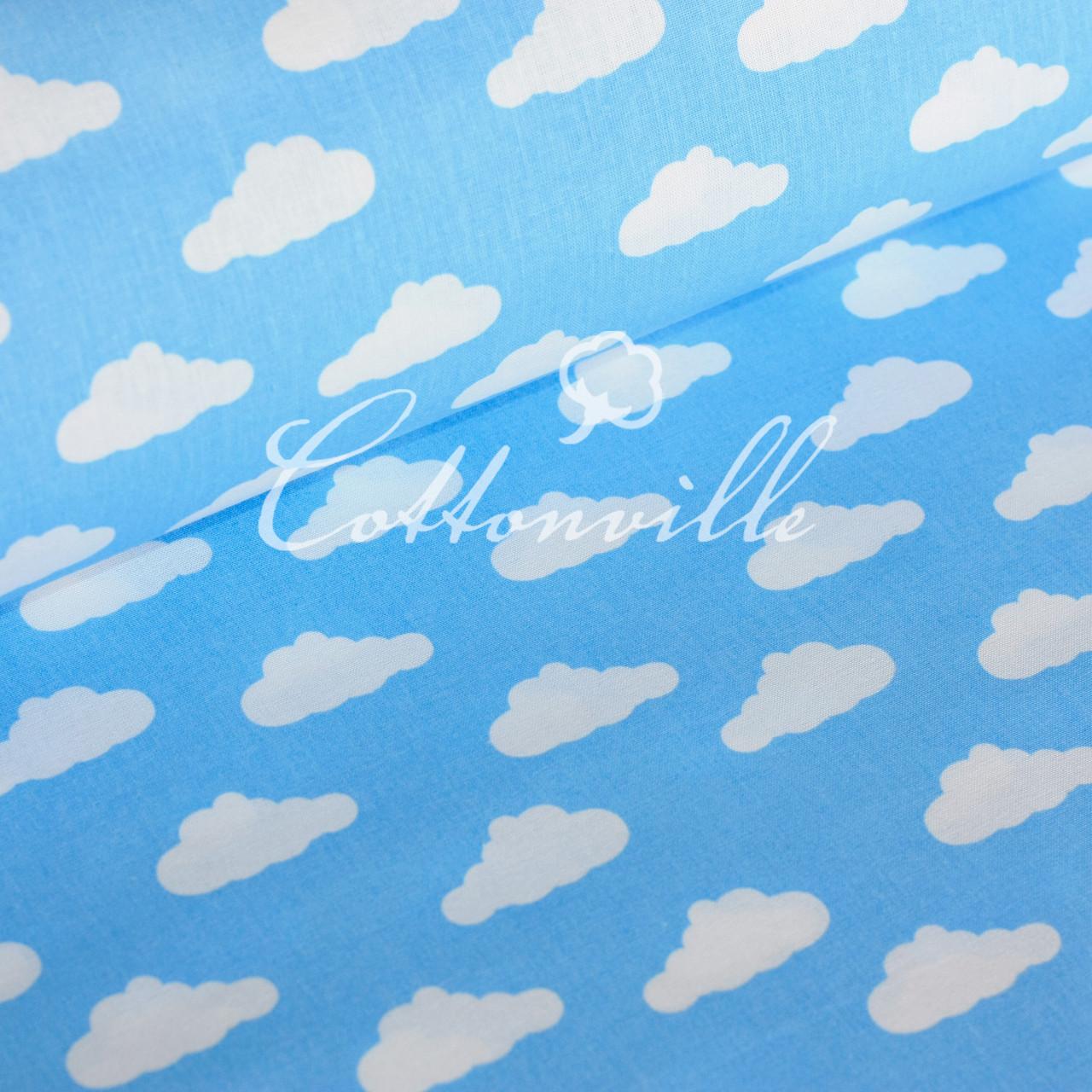 Польская бязь Облачка на голубом