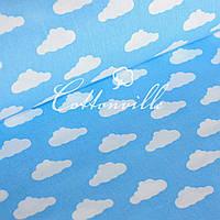 Польська бязь Хмарки на синьому, фото 1