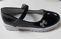 Детские лаковые туфли черные 31-34р