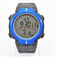 247 син - Мужские кварцевые спортивные часы с черным ремешком