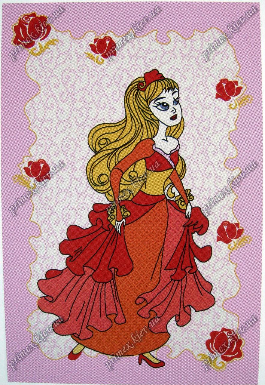 """Детский синтетический ковер  """"Принцесса"""", цвет розовый"""