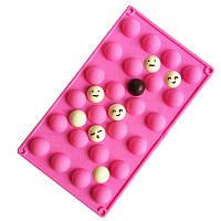 Форма для шоколада полусфера, для мармелада, конфет 24 шт