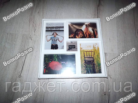 Рамка-Коллаж на 4 фото белого цвета / Фоторамка / Рамка-Коллаж на 4 фото 10х15 см, фото 2