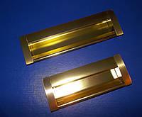 Ручки врезные на раздвижную дверь мат. золото