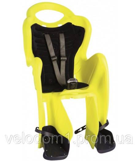 Сиденье задн. Bellelli Mr Fox Standart неоновый желтый/черная подкладка (Hi Vision)